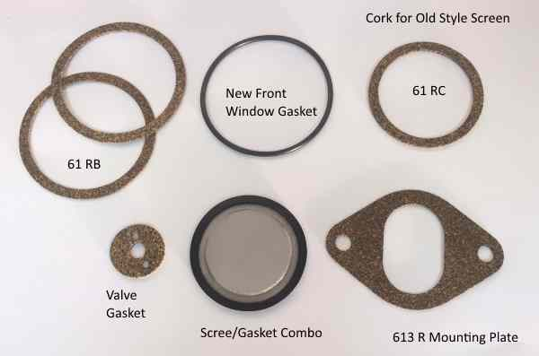 Complete Gasket Set for the old metal sediment bowl